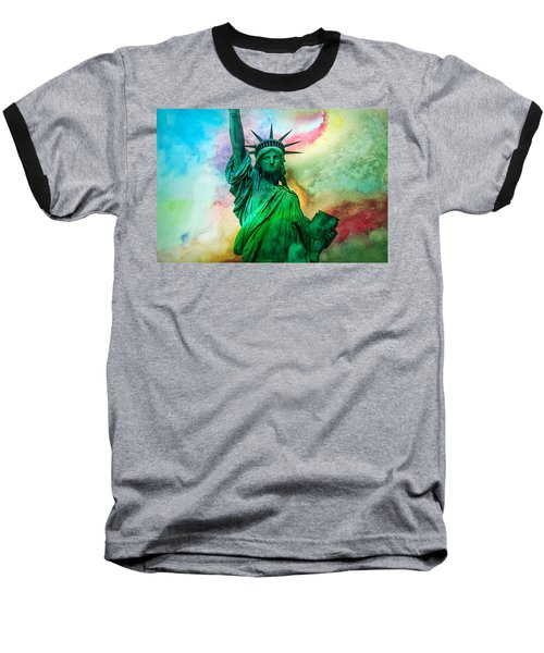 Stand Up For Your Dreams Baseball T-Shirt by Az Jackson