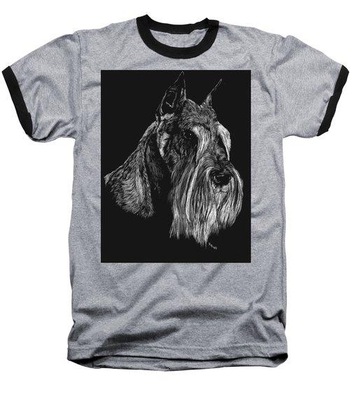 Standard Schnauzer Baseball T-Shirt by Rachel Hames