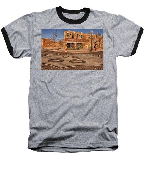 Standin' On The Corner Park Baseball T-Shirt by Priscilla Burgers