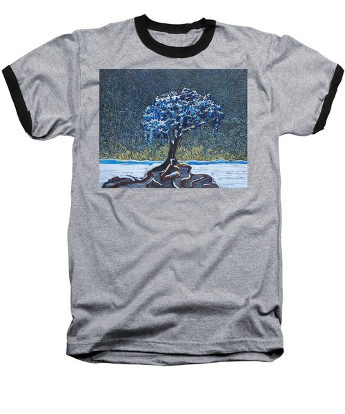 Standing Alone In The Snow Baseball T-Shirt