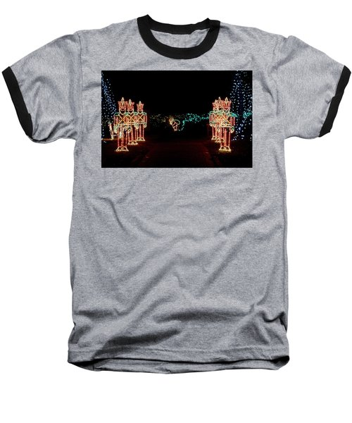 Standing Guard Baseball T-Shirt by Rodney Lee Williams