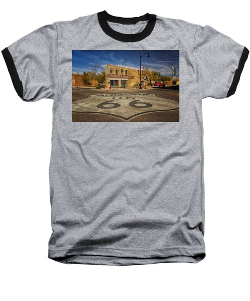Standing On The Corner In Winslow Arizona Dsc08854 Baseball T-Shirt by Greg Kluempers
