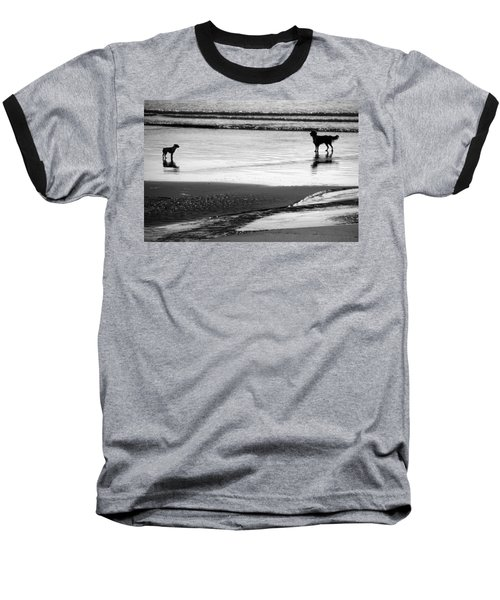 Standoff At The Beach Baseball T-Shirt