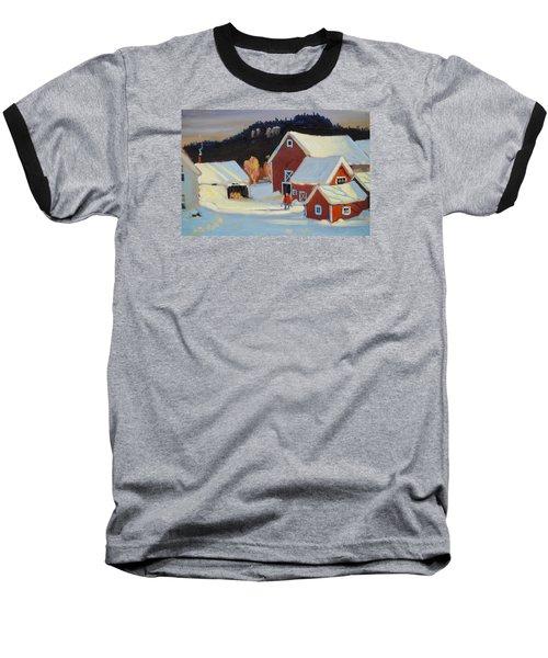 Stanley Kay Farm Baseball T-Shirt by Len Stomski