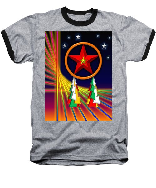 Baseball T-Shirt featuring the digital art Star by Cyril Maza