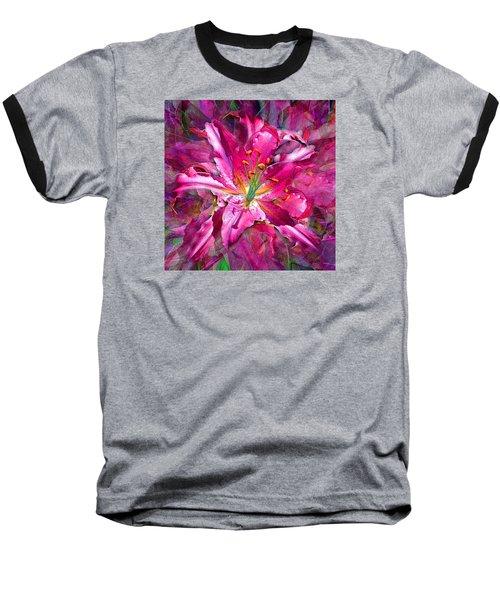 Star Gazing Stargazer Lily Baseball T-Shirt