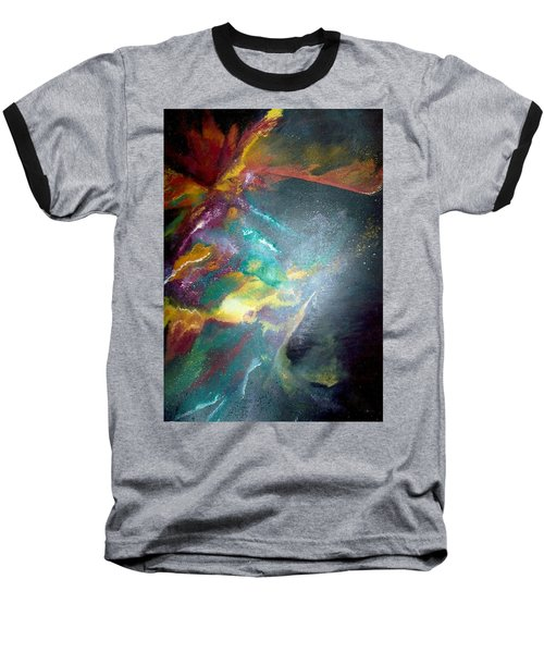 Baseball T-Shirt featuring the painting Star Nebula by Carrie Maurer