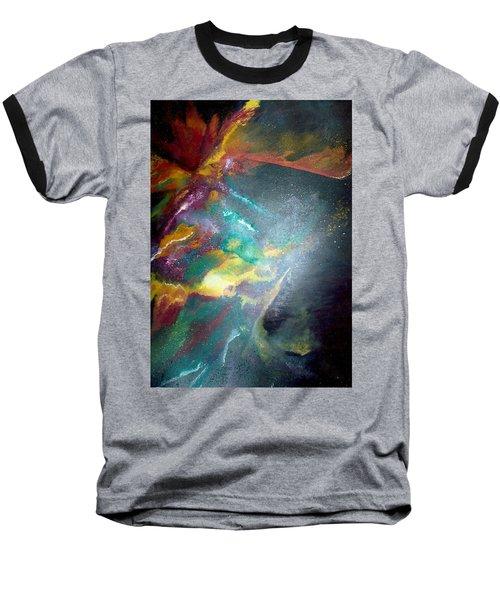 Star Nebula Baseball T-Shirt by Carrie Maurer