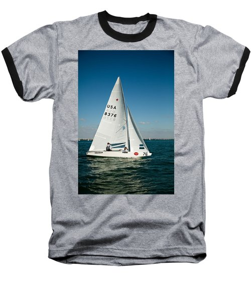 Star Sailboat Baseball T-Shirt