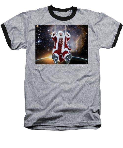 Santa's Star Swing Baseball T-Shirt