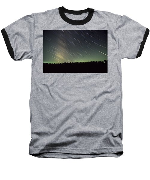 Star Trails Baseball T-Shirt
