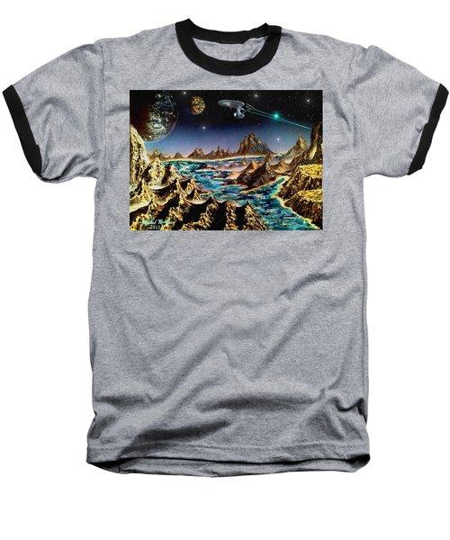 Star Trek - Orbiting Planet Baseball T-Shirt