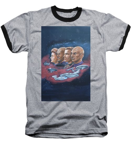 Star Trek Tribute Captains Baseball T-Shirt by Bryan Bustard