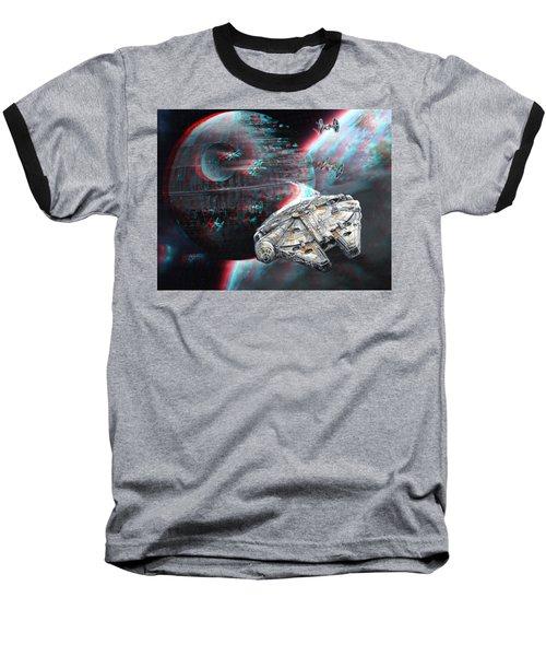 Star Wars 3d Millennium Falcon Baseball T-Shirt