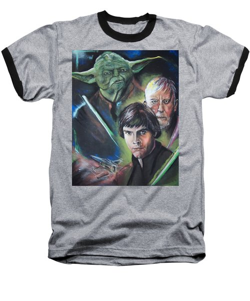 Baseball T-Shirt featuring the pastel Star Wars Medley by Peter Suhocke
