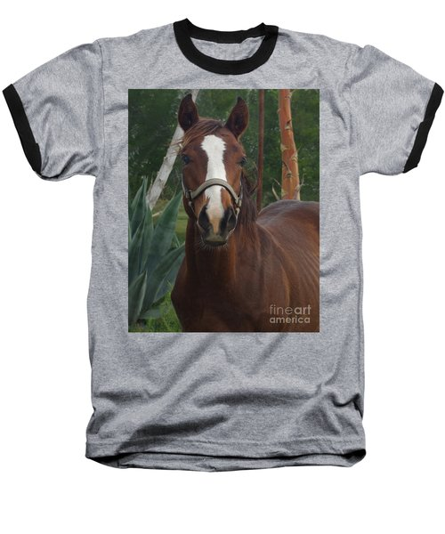 Baseball T-Shirt featuring the photograph Stared Down by Peter Piatt