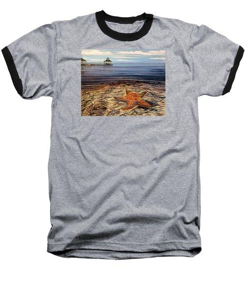 Starfish Drifting Baseball T-Shirt by Marilyn  McNish
