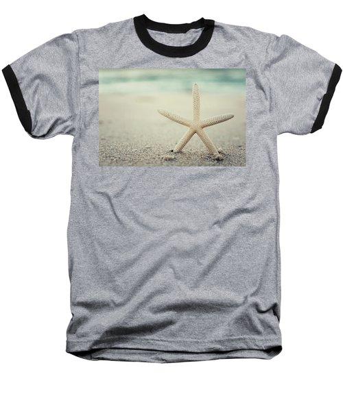 Starfish On Beach Vintage Seaside New Jersey  Baseball T-Shirt