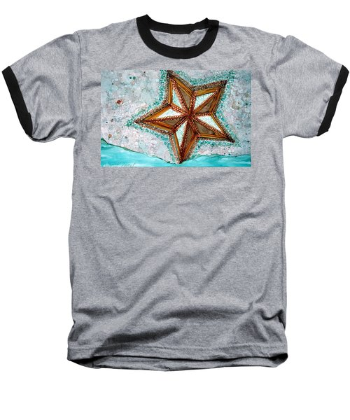 Starfish On The Beach Alcohol Inks Baseball T-Shirt
