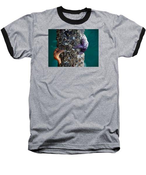 Starfish Under The Pier Baseball T-Shirt
