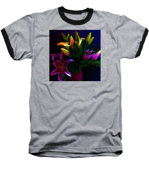 Baseball T-Shirt featuring the photograph Stargazer Bouquet by Carolyn Repka