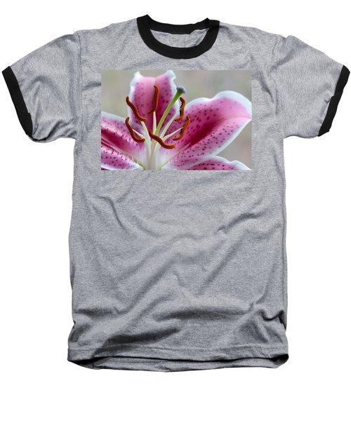 Stargazer Lily Baseball T-Shirt