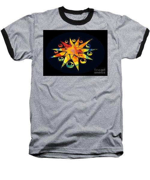 Staring Into Eternity Abstract Stars And Circles Baseball T-Shirt