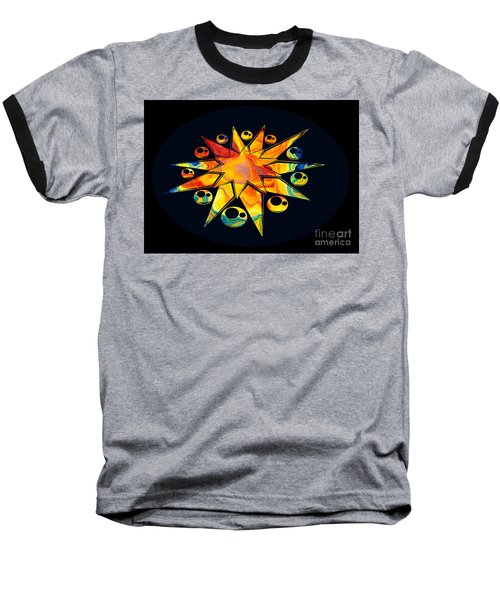 Staring Into Eternity Abstract Stars And Circles Baseball T-Shirt