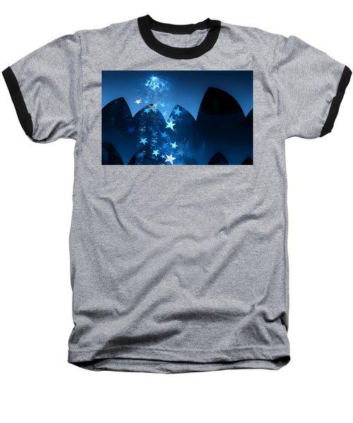 Baseball T-Shirt featuring the digital art Starry Night by GJ Blackman