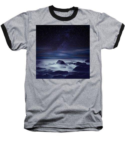 Starry Night Baseball T-Shirt by Jorge Maia