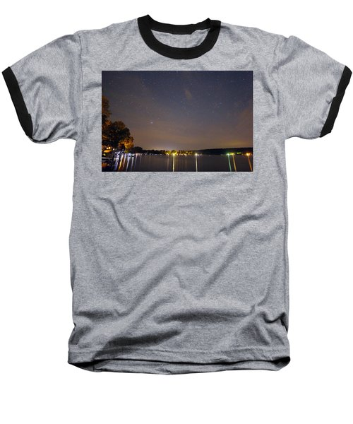 Stars Over Conesus Baseball T-Shirt by Richard Engelbrecht