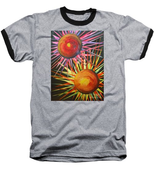 Baseball T-Shirt featuring the painting Stars With Colors by Chrisann Ellis