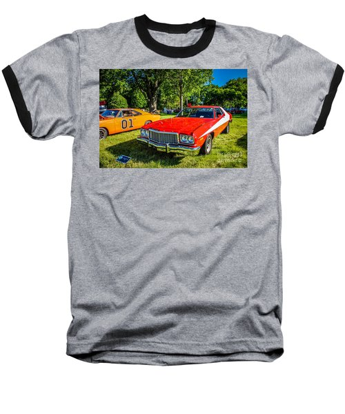 Starsky And Hutch Ford Gran Torino Baseball T-Shirt