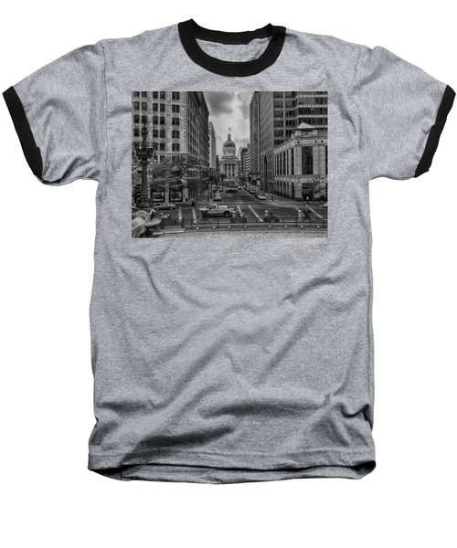Baseball T-Shirt featuring the photograph State Capitol Building by Howard Salmon