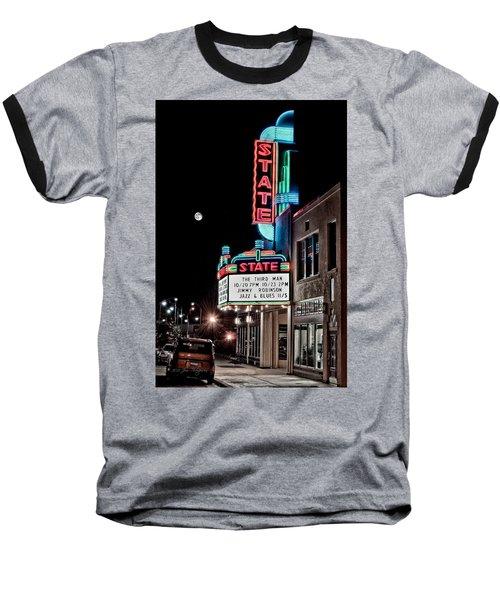 State Theater Baseball T-Shirt by Jim Thompson