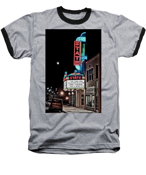 Baseball T-Shirt featuring the photograph State Theater by Jim Thompson