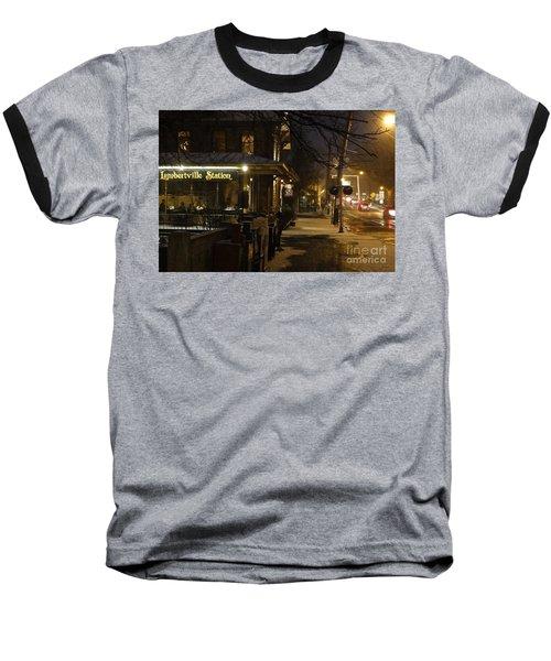 Station In Snow Baseball T-Shirt