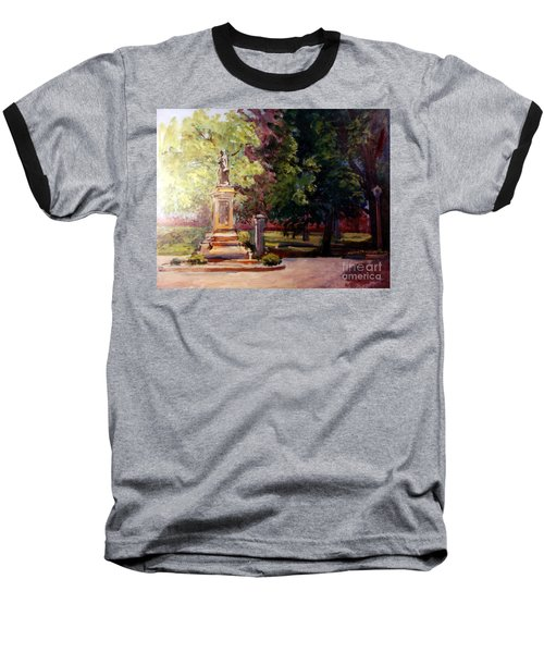 Statue In  Landscape Baseball T-Shirt