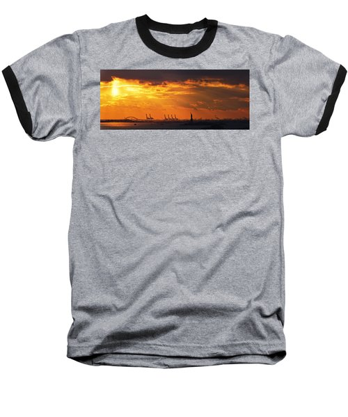 Statue Of Liberty At Sunset. Baseball T-Shirt