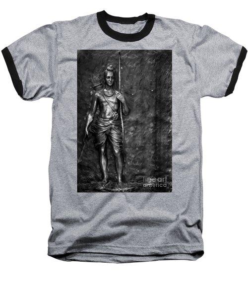 Statue Of Lord Sri Ram Baseball T-Shirt by Kiran Joshi