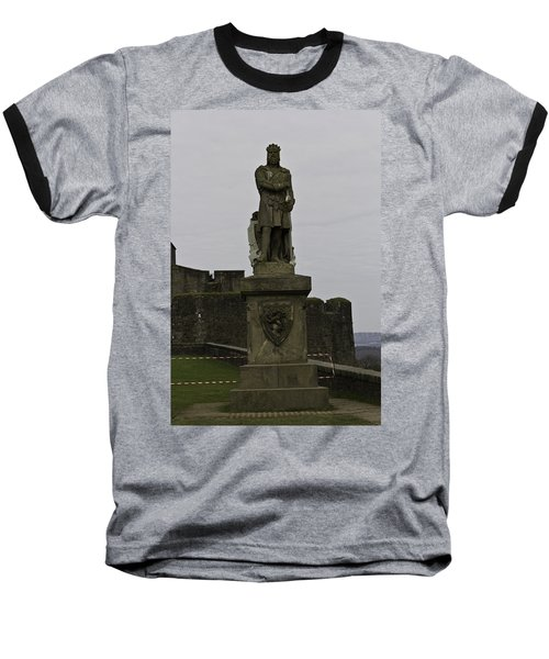 Statue Of Robert The Bruce On The Castle Esplanade At Stirling Castle Baseball T-Shirt