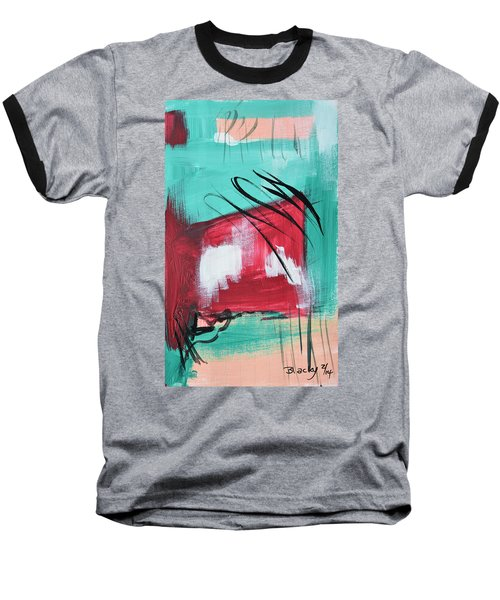 Staying In Miami Baseball T-Shirt by Donna Blackhall