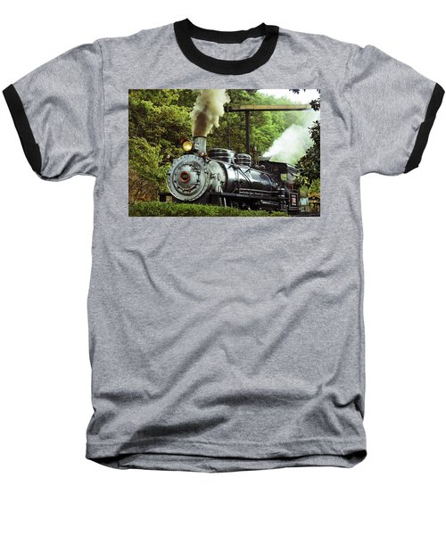 Steam Engine Baseball T-Shirt by Laurie Perry