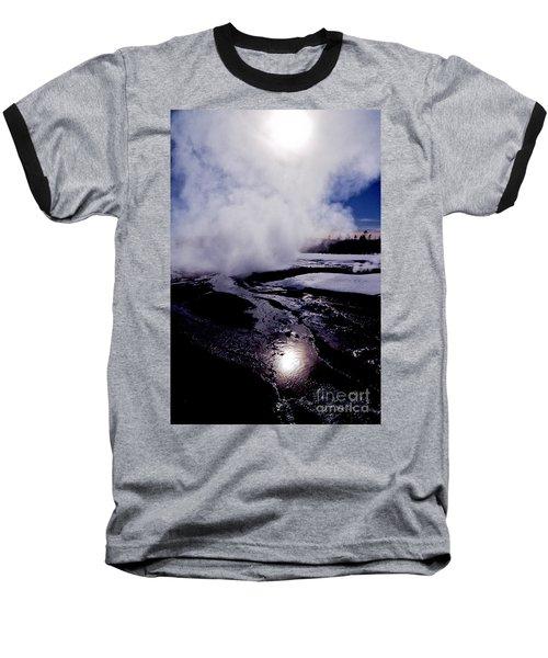 Steam Baseball T-Shirt by Sharon Elliott