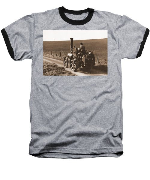 Steam Tractor Baseball T-Shirt