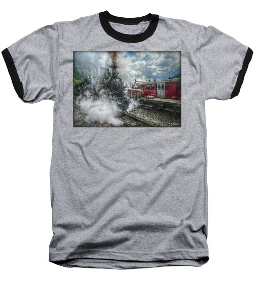 Baseball T-Shirt featuring the photograph Steam Train by Hanny Heim