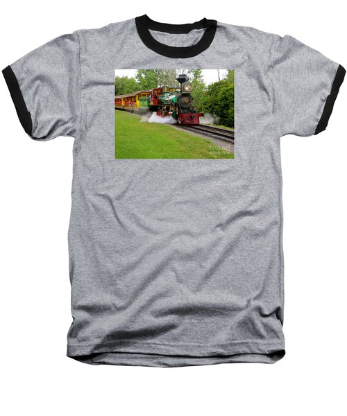 Baseball T-Shirt featuring the photograph Steam Train by Joy Hardee