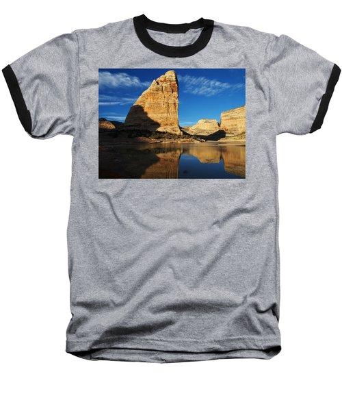 Steamboat Rock In Dinosaur National Monument Baseball T-Shirt by Nadja Rider
