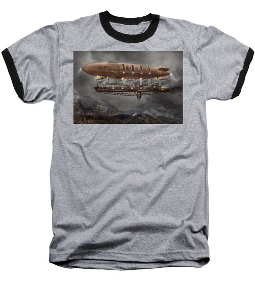 Steampunk - Blimp - Airship Maximus  Baseball T-Shirt