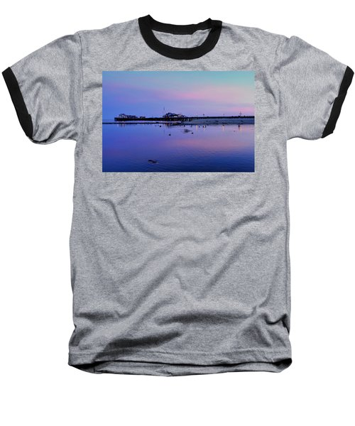Stearn's Wharf Over Pond Baseball T-Shirt